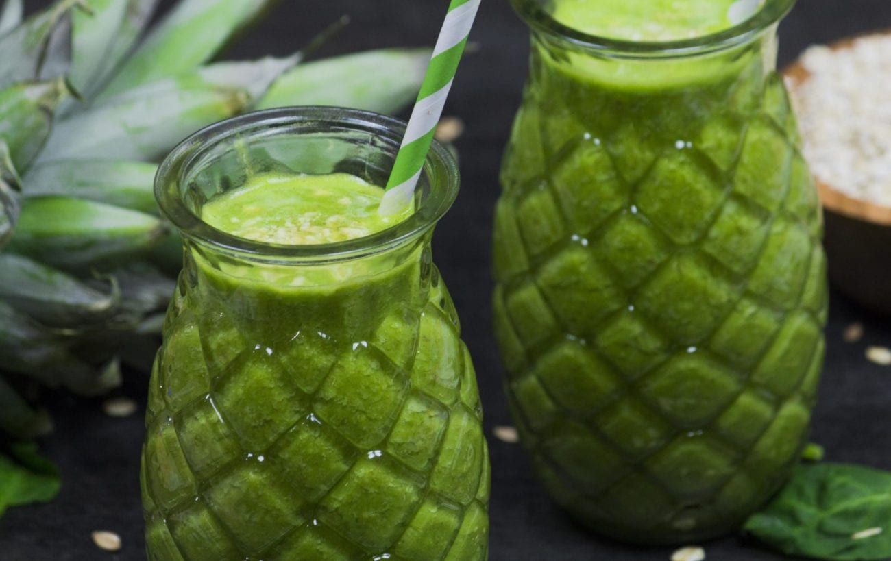 Spinach and Citrus Fruit Smoothies