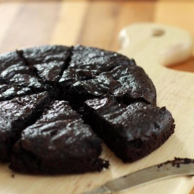 Easy Black Chocolate Cake Recipe