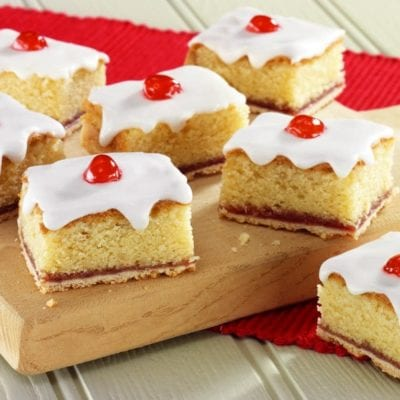 Cherry Bakewell slice recipe