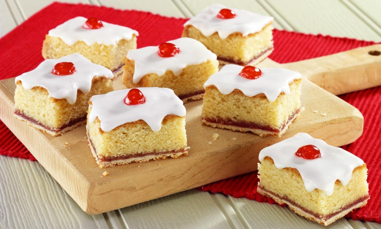 Cherry Bakewell slice