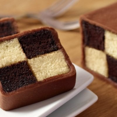 Chocolate Battenberg cake recipe