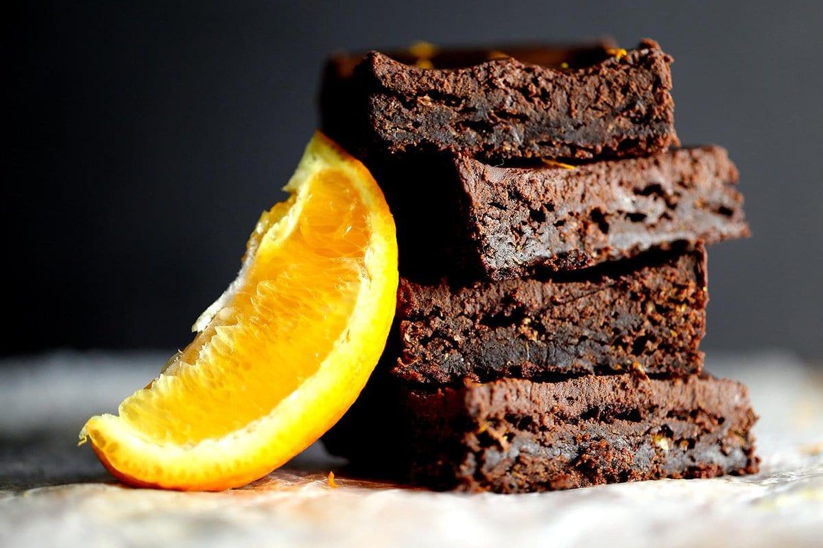 Chocolate and orange brownies