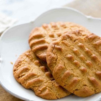 Peanut Butter Cookie Recipe on a Plate