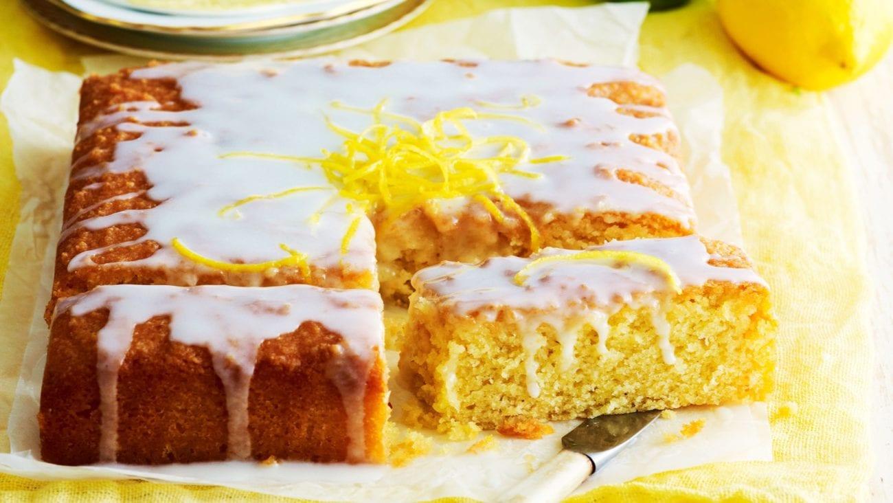 Dairy-free lemon drizzle cake