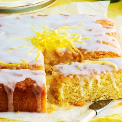 Dairy-free lemon drizzle cake recipe
