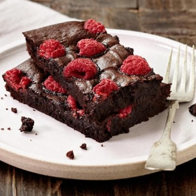 Raspberry chocolate brownies recipe