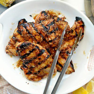Easy Honey Mustard Grilled Chicken Recipe