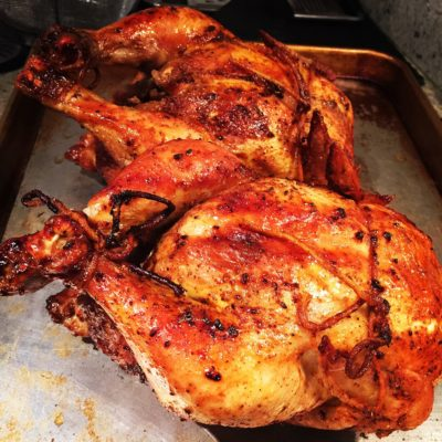 Easy Roast Sticky Chicken-Rotisserie Recipe