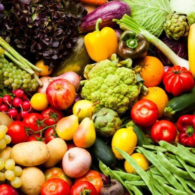 Recommended fruits and vegetables